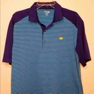 Masters Tech Augusta National Golf Blue Polo Large